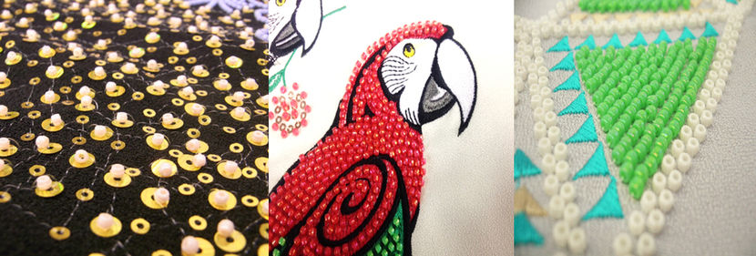 professional embroidery with beads