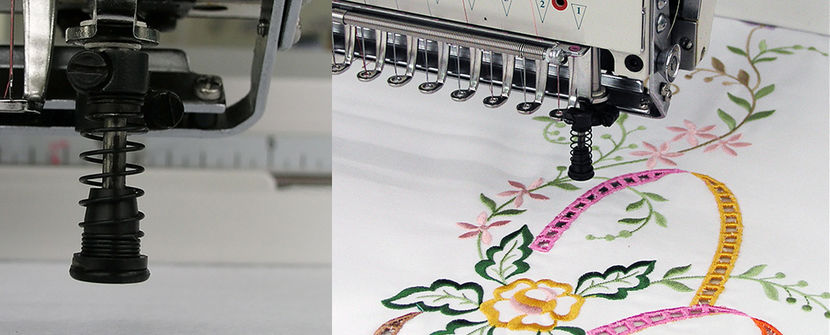 Embroidey machine option boring device