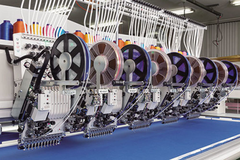 option industrial embroidery machine